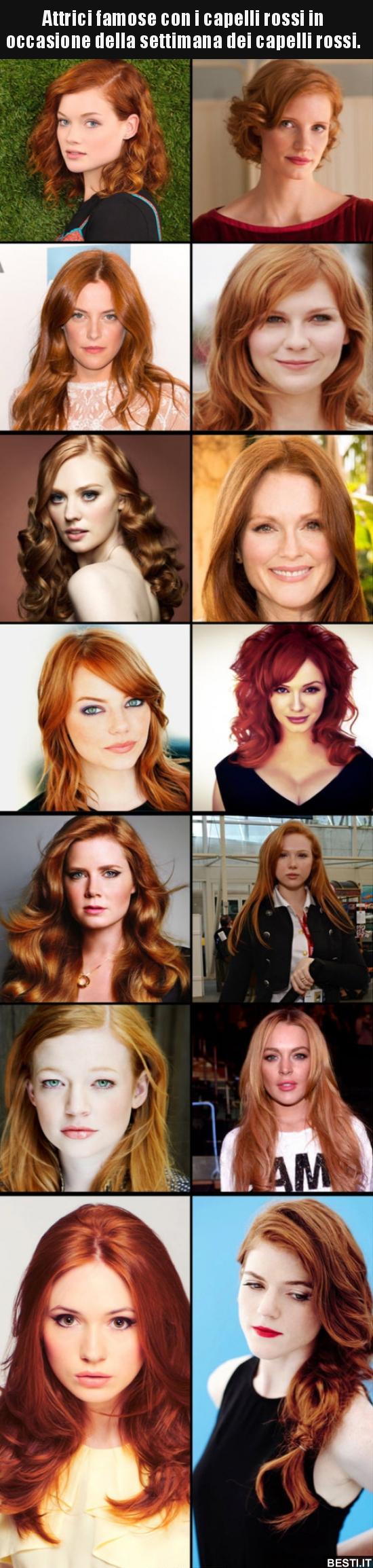 detailed pictures dbf7d 72ae6 Attrici famose con i capelli rossi in occasione della ...