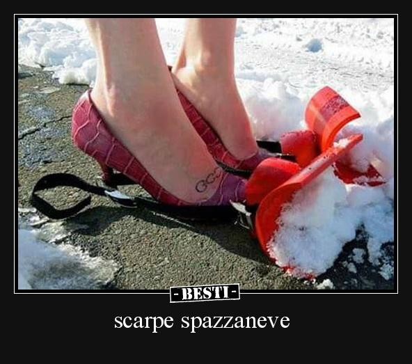 scarpe spazzaneve | BESTI.it - immagini divertenti, foto, barzellette, video