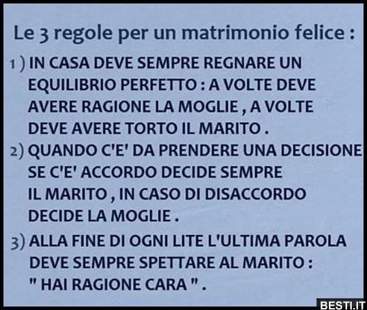 Top Regole per un matrimonio felice | BESTI.it - immagini divertenti  ZY92